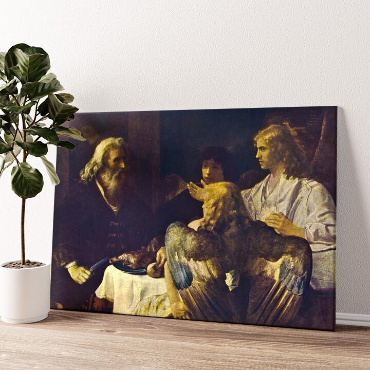 Abraham und die drei Engel Wandbild personalisiert