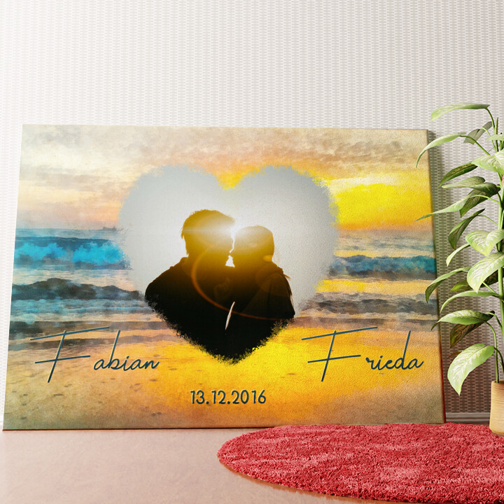 Personalisiertes Wandbild Romantischer Sonnenuntergang