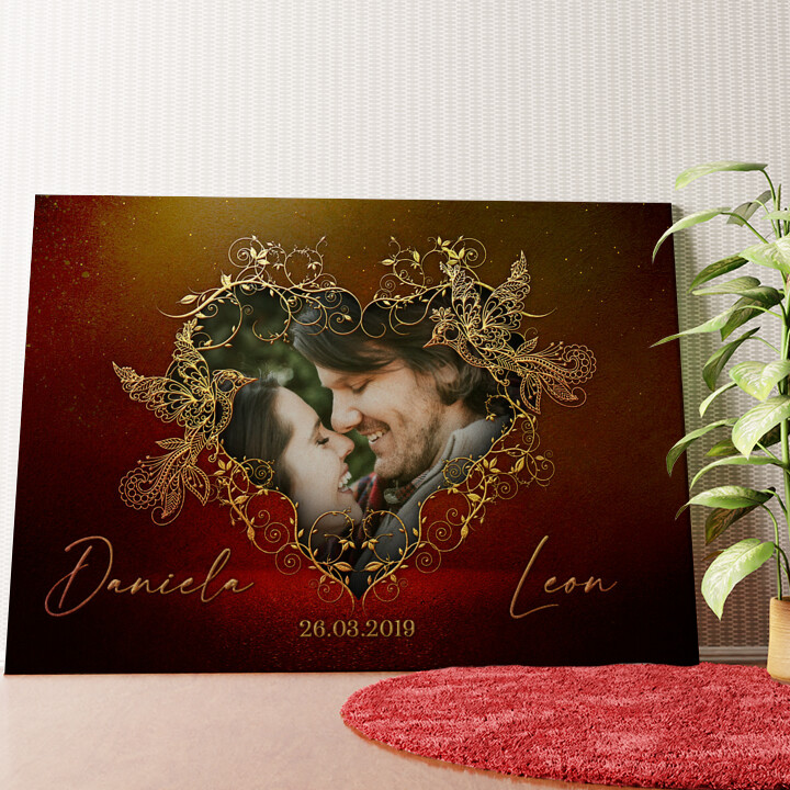 Personalisiertes Wandbild Gefiederte Liebe