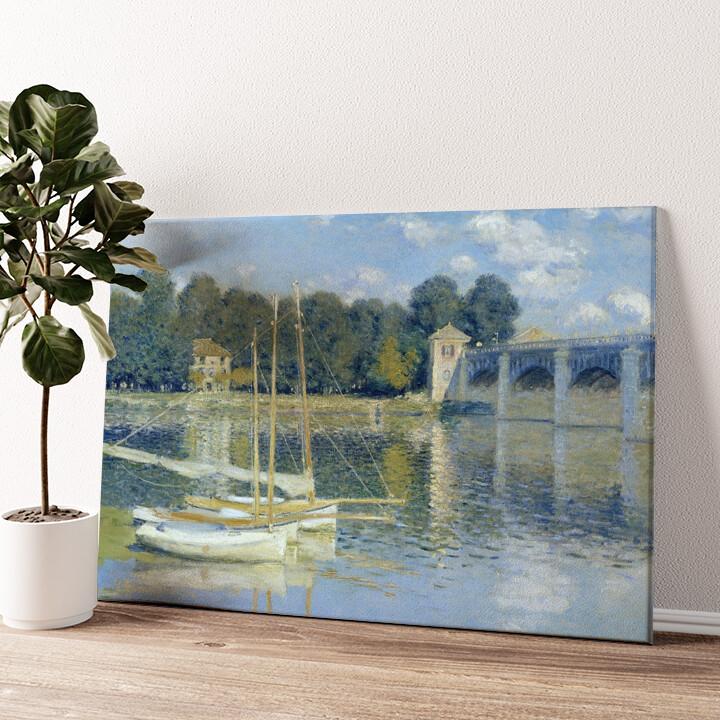Brücke von Argenteuil Wandbild personalisiert