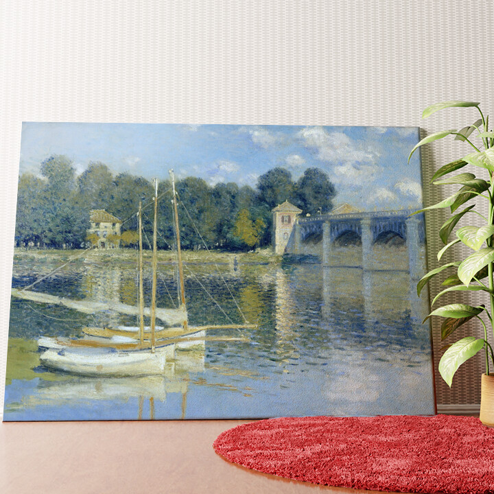 Personalisiertes Wandbild Brücke von Argenteuil