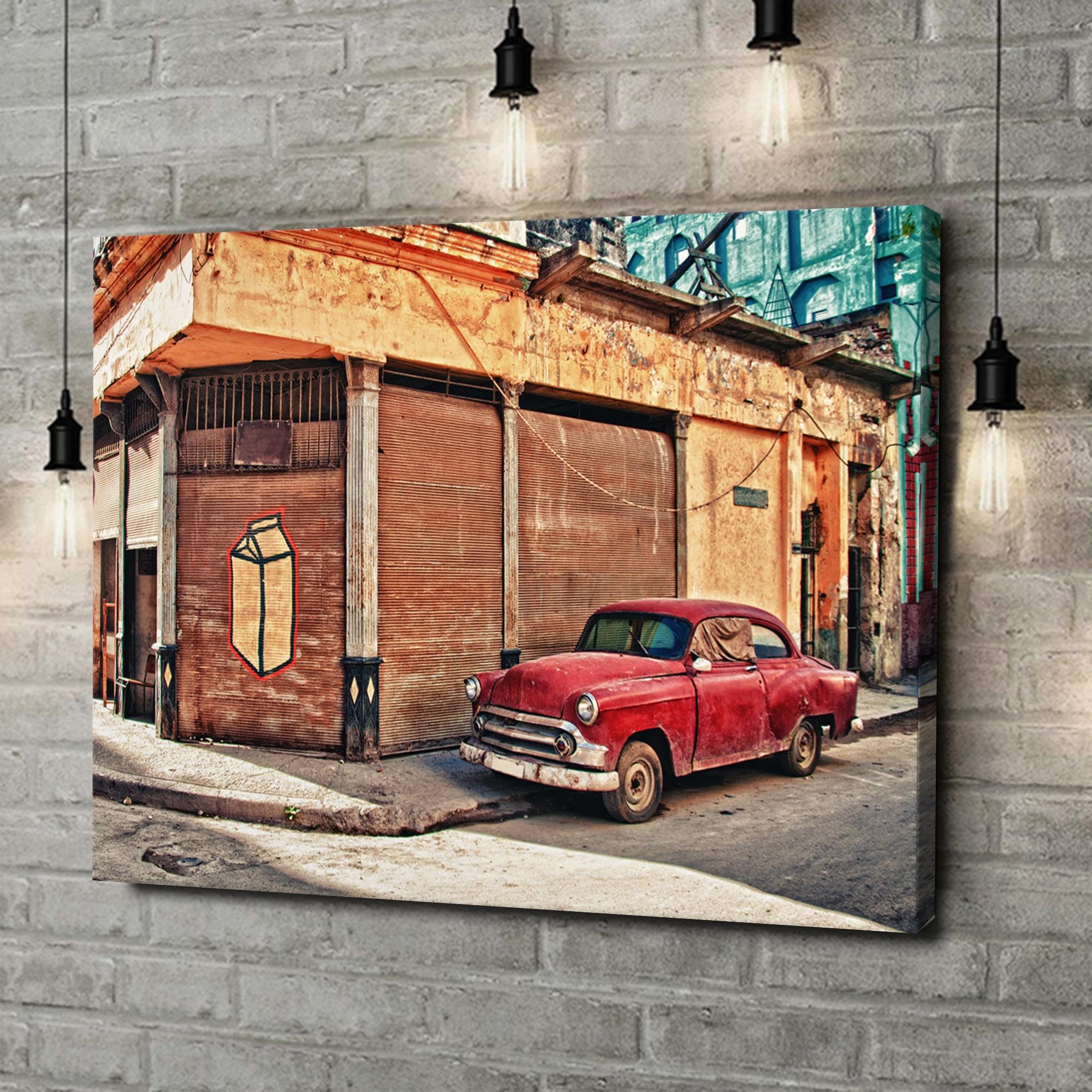 Leinwandbild personalisiert Oldtimer in Kuba