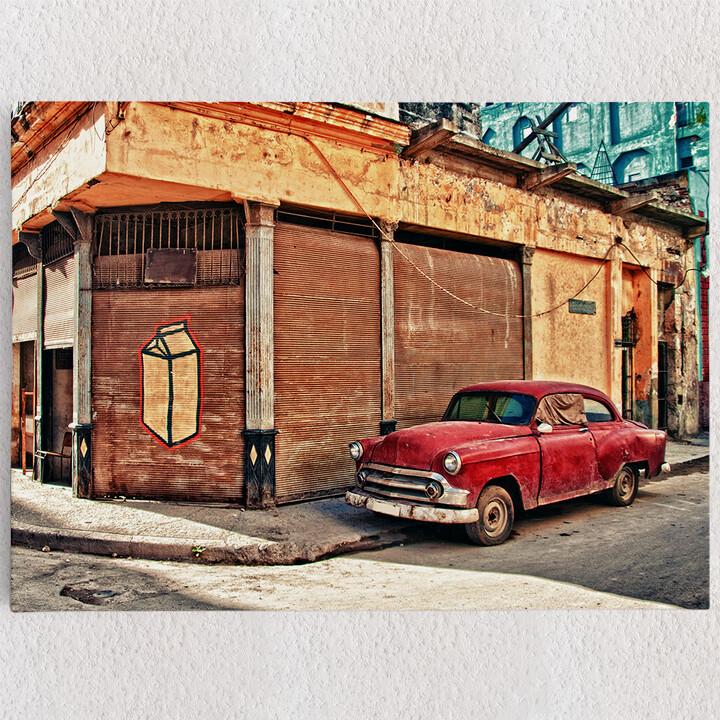 Personalisiertes Leinwandbild Oldtimer in Kuba