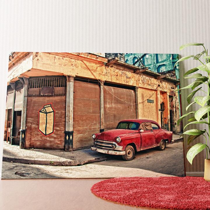 Personalisiertes Wandbild Oldtimer in Kuba