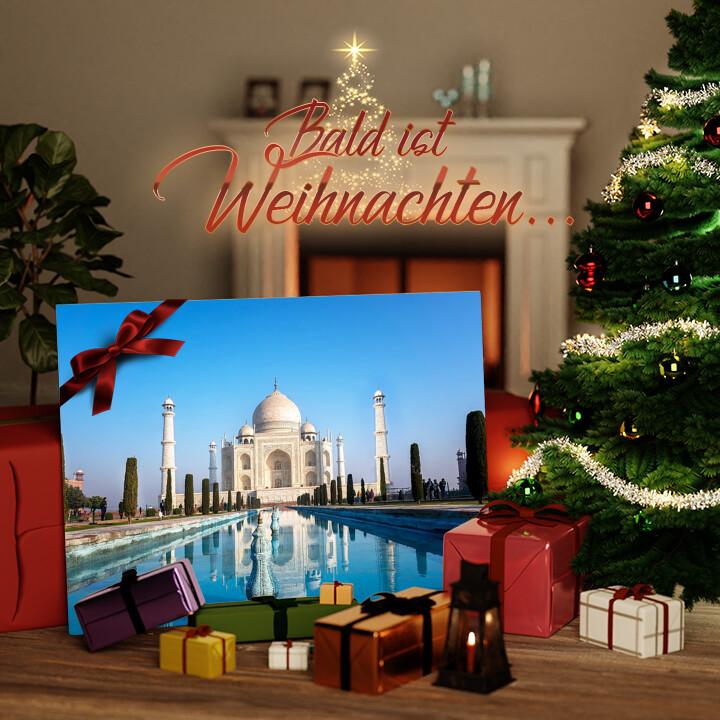 Liebesleinwand zu Weichnachten Taj Mahal Indien
