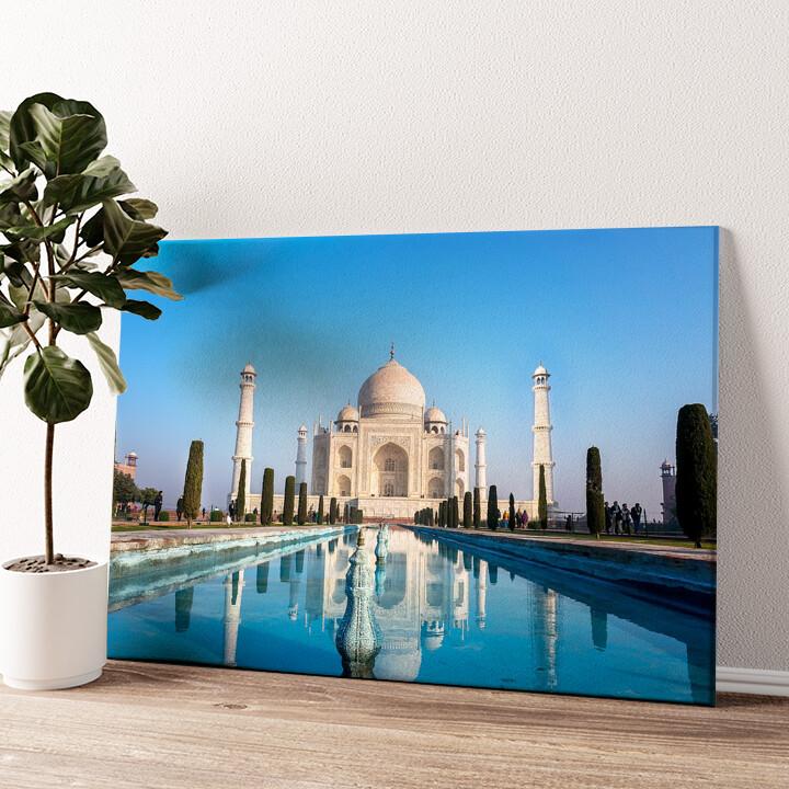 Taj Mahal Indien Wandbild personalisiert