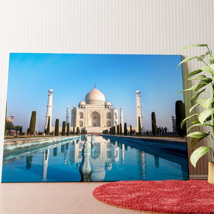 Personalisiertes Wandbild Taj Mahal Indien