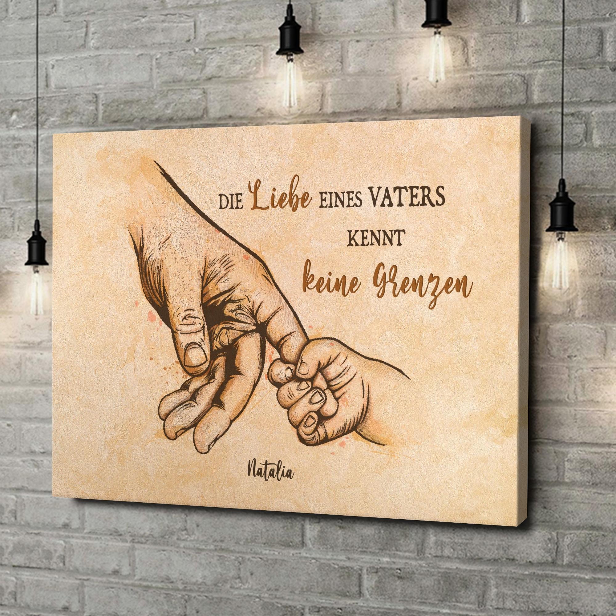 Leinwandbild personalisiert Liebe des Vaters