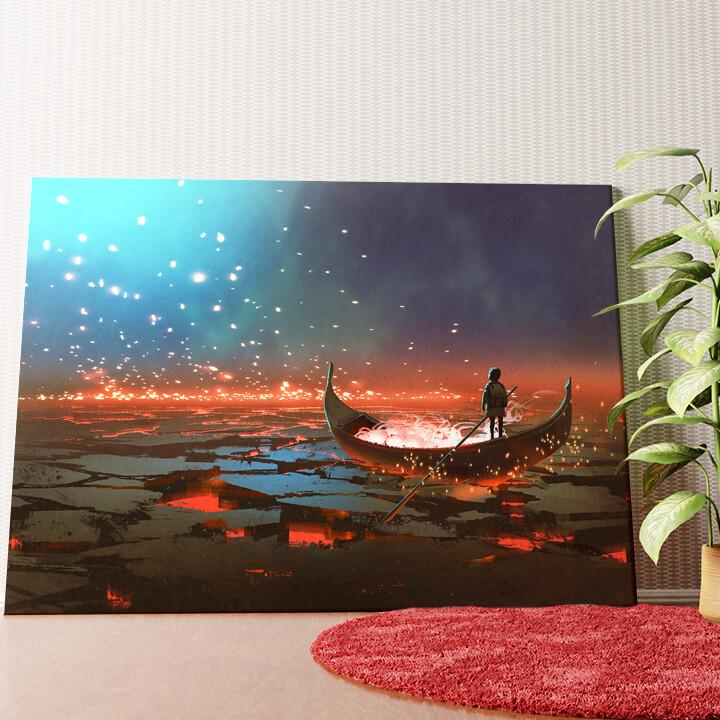 Personalisiertes Wandbild Fantasy Fährenmann