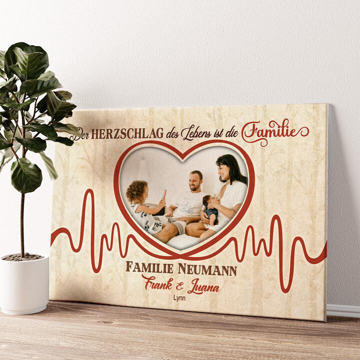 Herzschlag Wandbild personalisiert