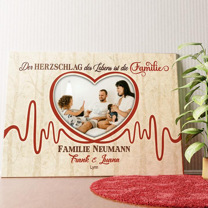 Personalisiertes Wandbild Herzschlag