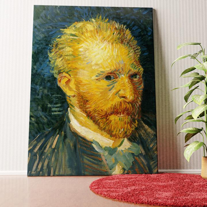 Personalisiertes Wandbild Selbstportrait im Herbst