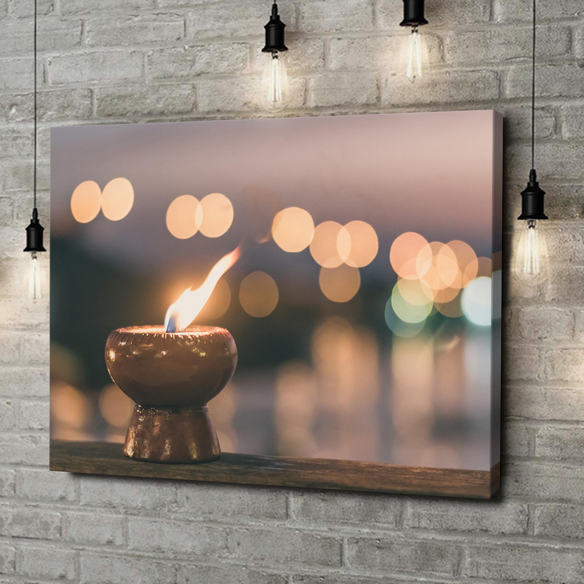 Leinwandbild personalisiert Kerze der Ruhe