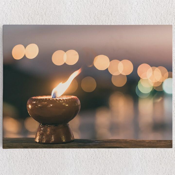 Personalisiertes Leinwandbild Kerze der Ruhe