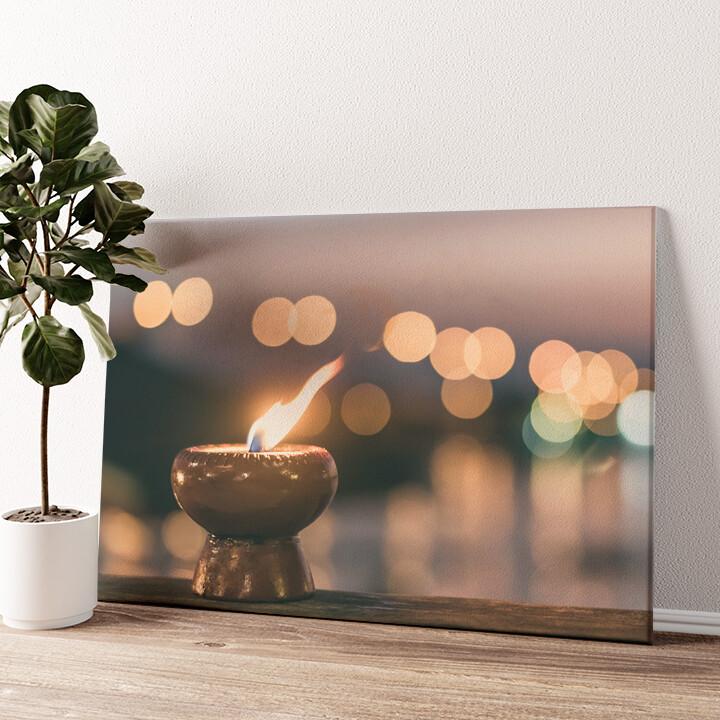 Kerze der Ruhe Wandbild personalisiert