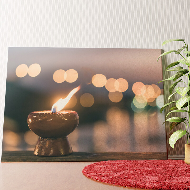 Personalisiertes Wandbild Kerze der Ruhe