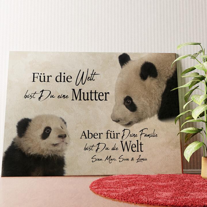Personalisiertes Wandbild Pandamutter