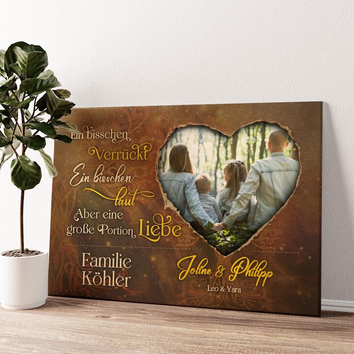 Große Portion Liebe Wandbild personalisiert