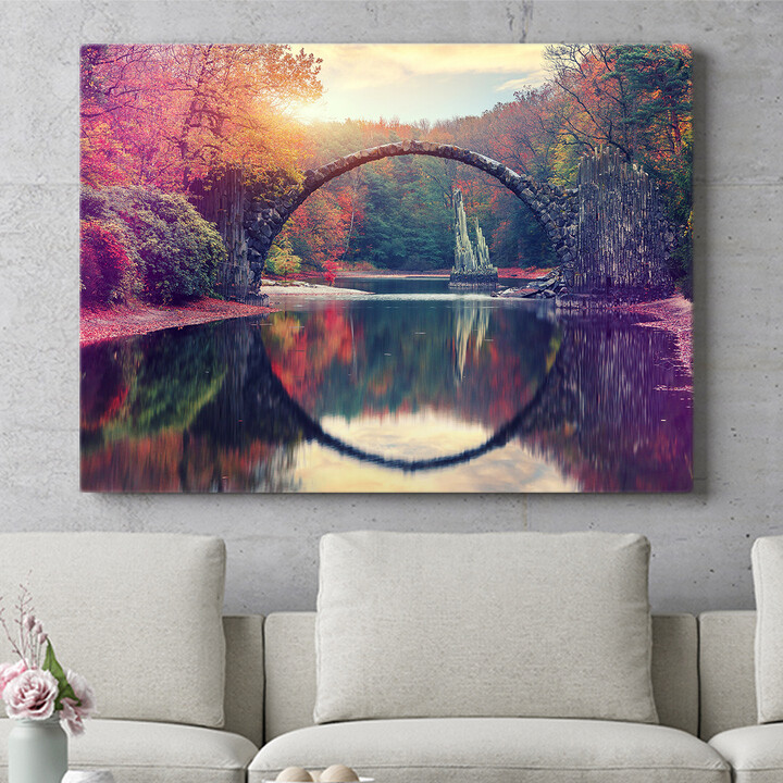 Personalisierbares Geschenk Rakotz Brücke Azalea und Rhododendron Park Kromlau