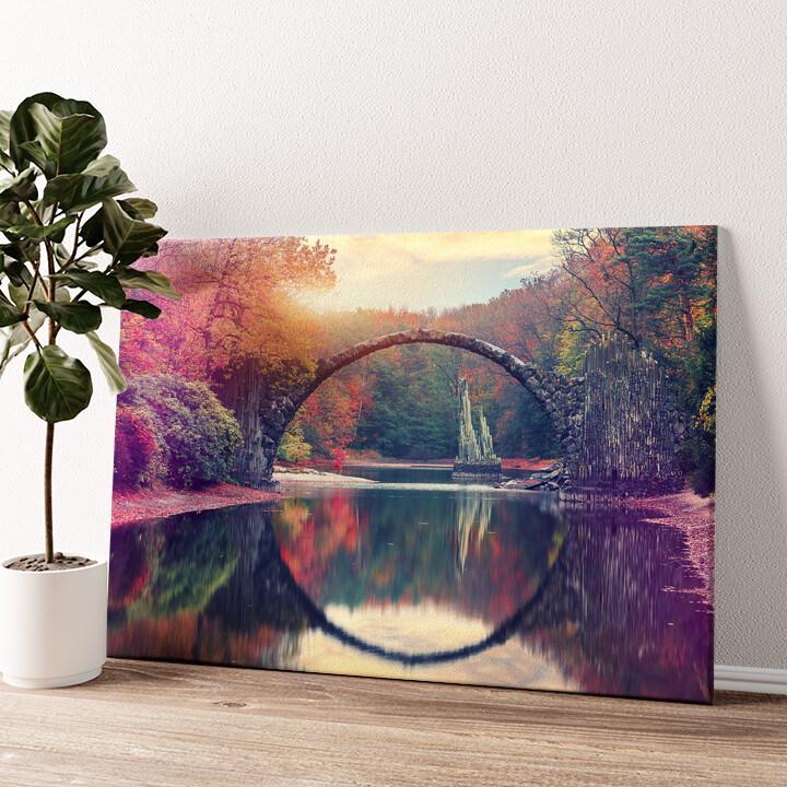 Rakotz Brücke Azalea und Rhododendron Park Kromlau Wandbild personalisiert