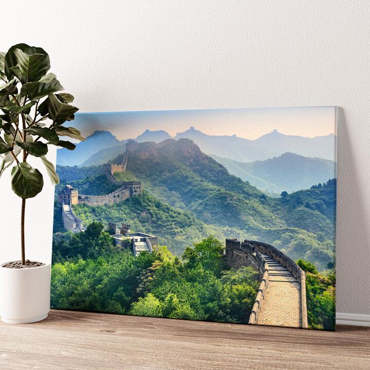 Chinesische Mauer Wandbild personalisiert