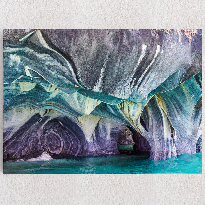 Personalisiertes Leinwandbild Marmorhöhlen in Chilis - Patagonien