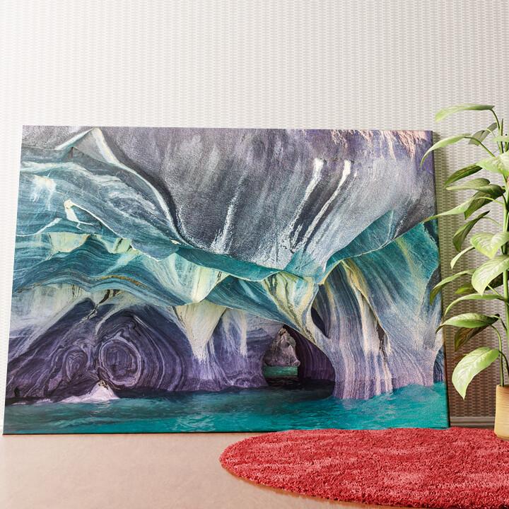 Personalisiertes Wandbild Marmorhöhlen in Chilis - Patagonien