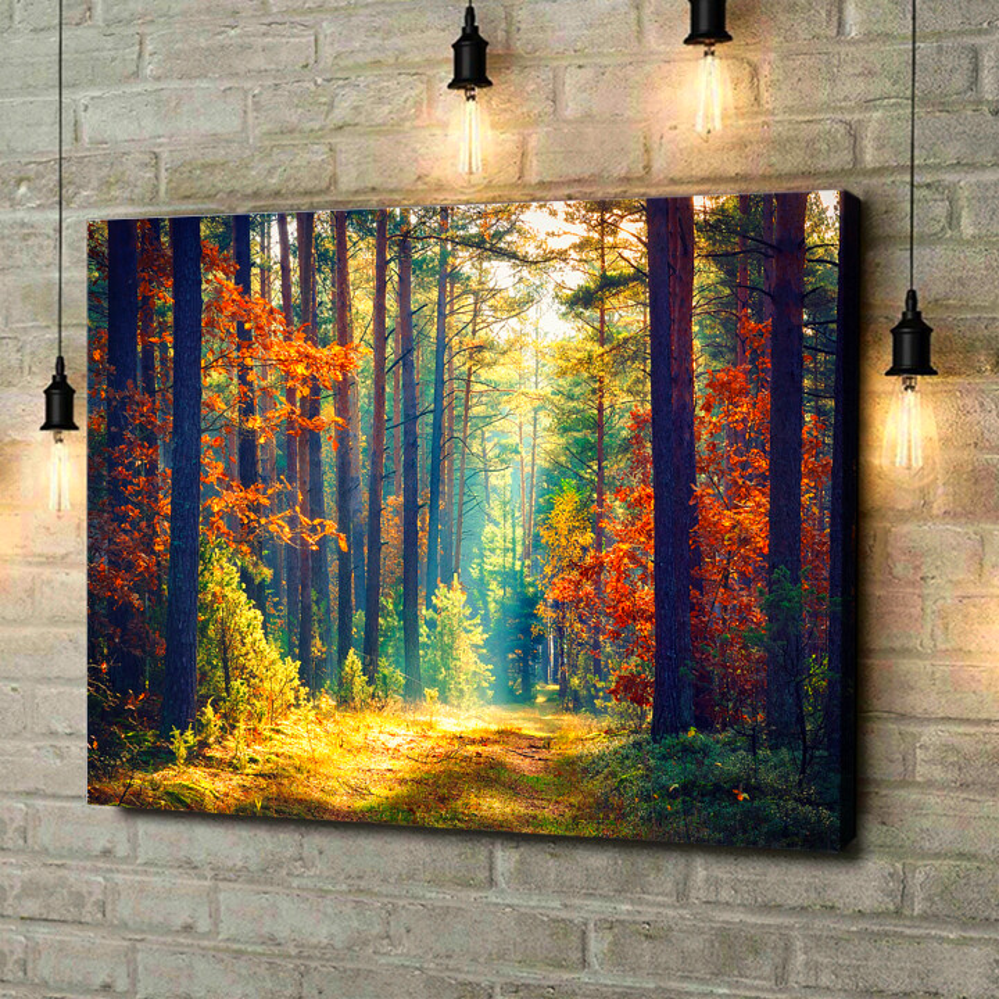 Leinwandbild personalisiert Herbstwald