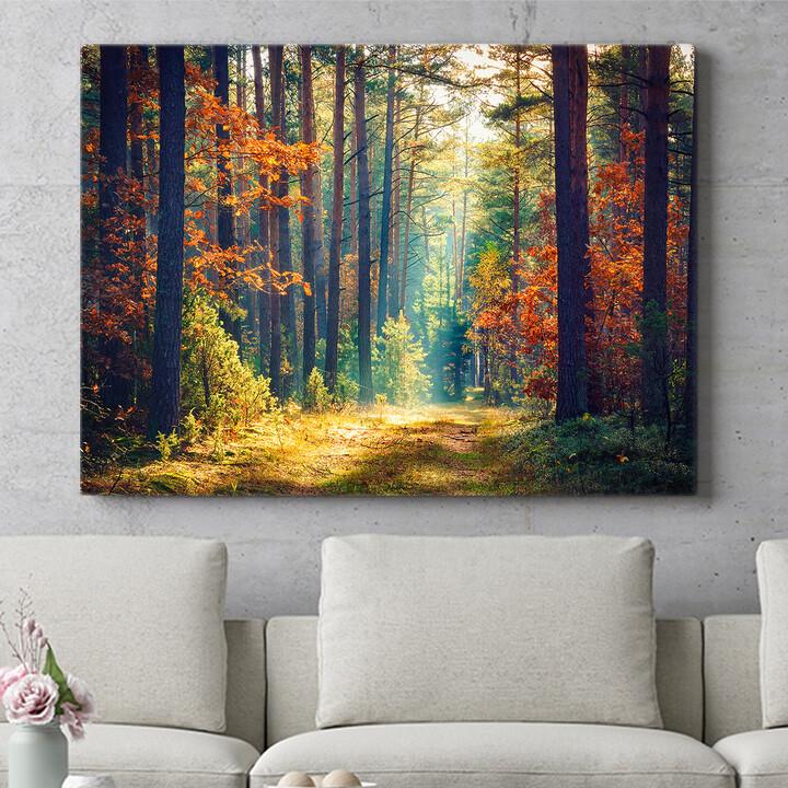 Personalisierbares Geschenk Herbstwald