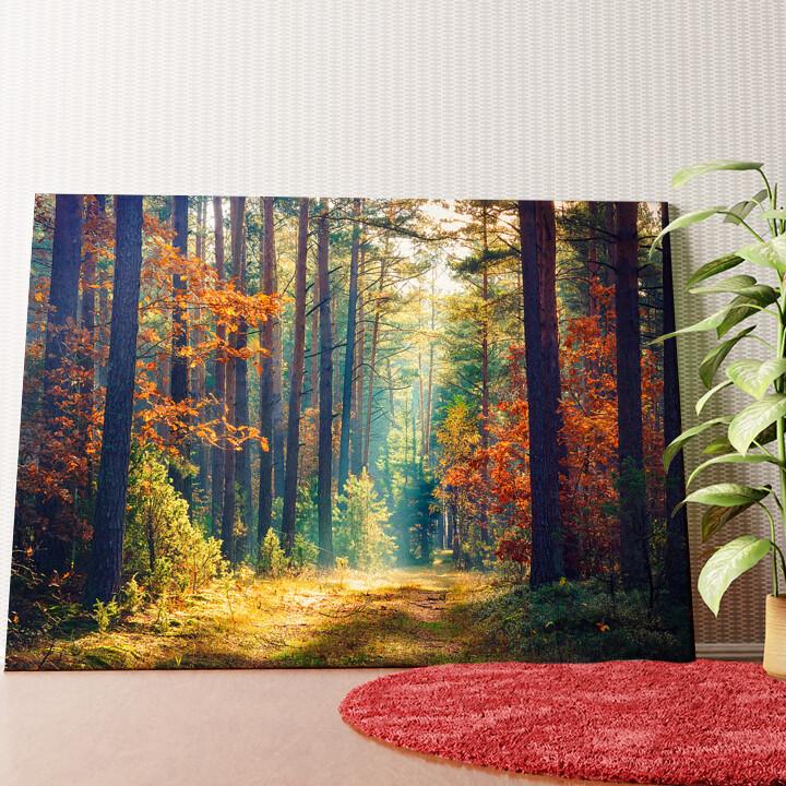 Personalisiertes Wandbild Herbstwald
