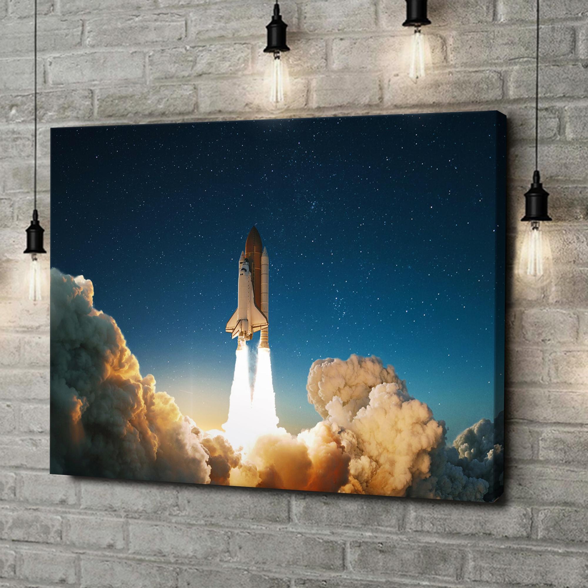 Leinwandbild personalisiert Space Shuttle Start
