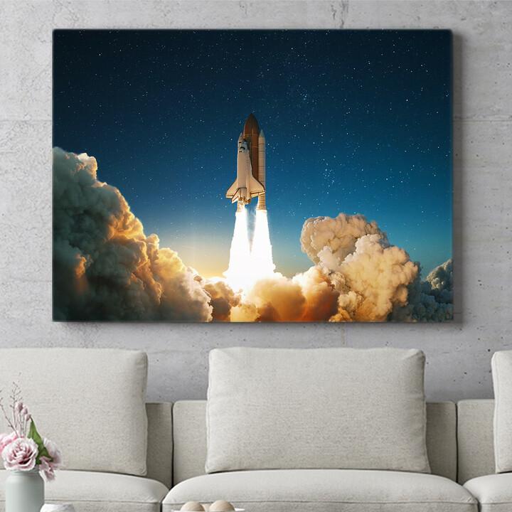 Personalisierbares Geschenk Space Shuttle Start