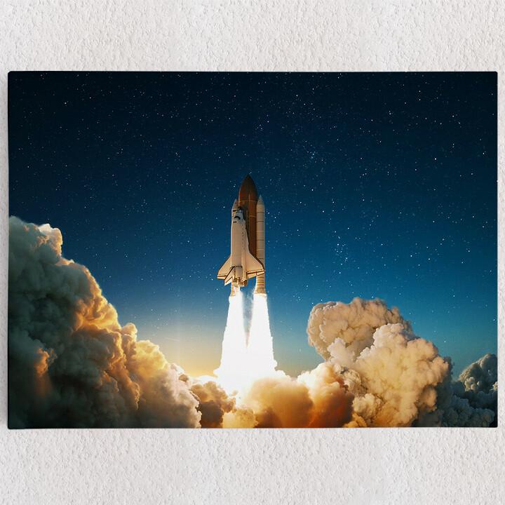 Personalisiertes Leinwandbild Space Shuttle Start