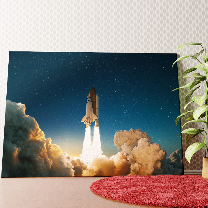 Personalisiertes Wandbild Space Shuttle Start