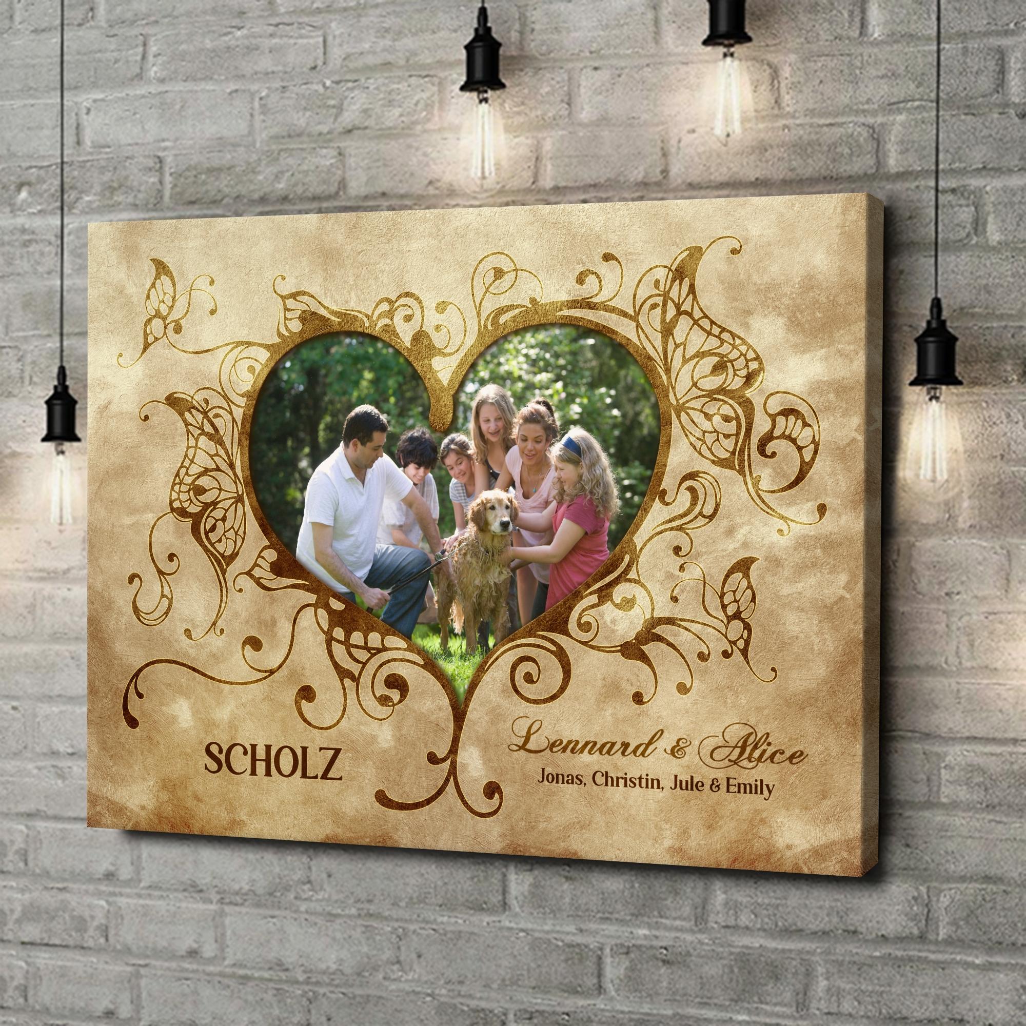 Leinwandbild personalisiert Im Herzen der Familie