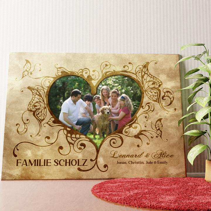 Personalisiertes Wandbild Im Herzen der Familie