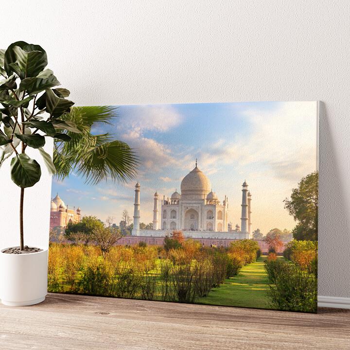 Taj Mahal Indien 2 Wandbild personalisiert