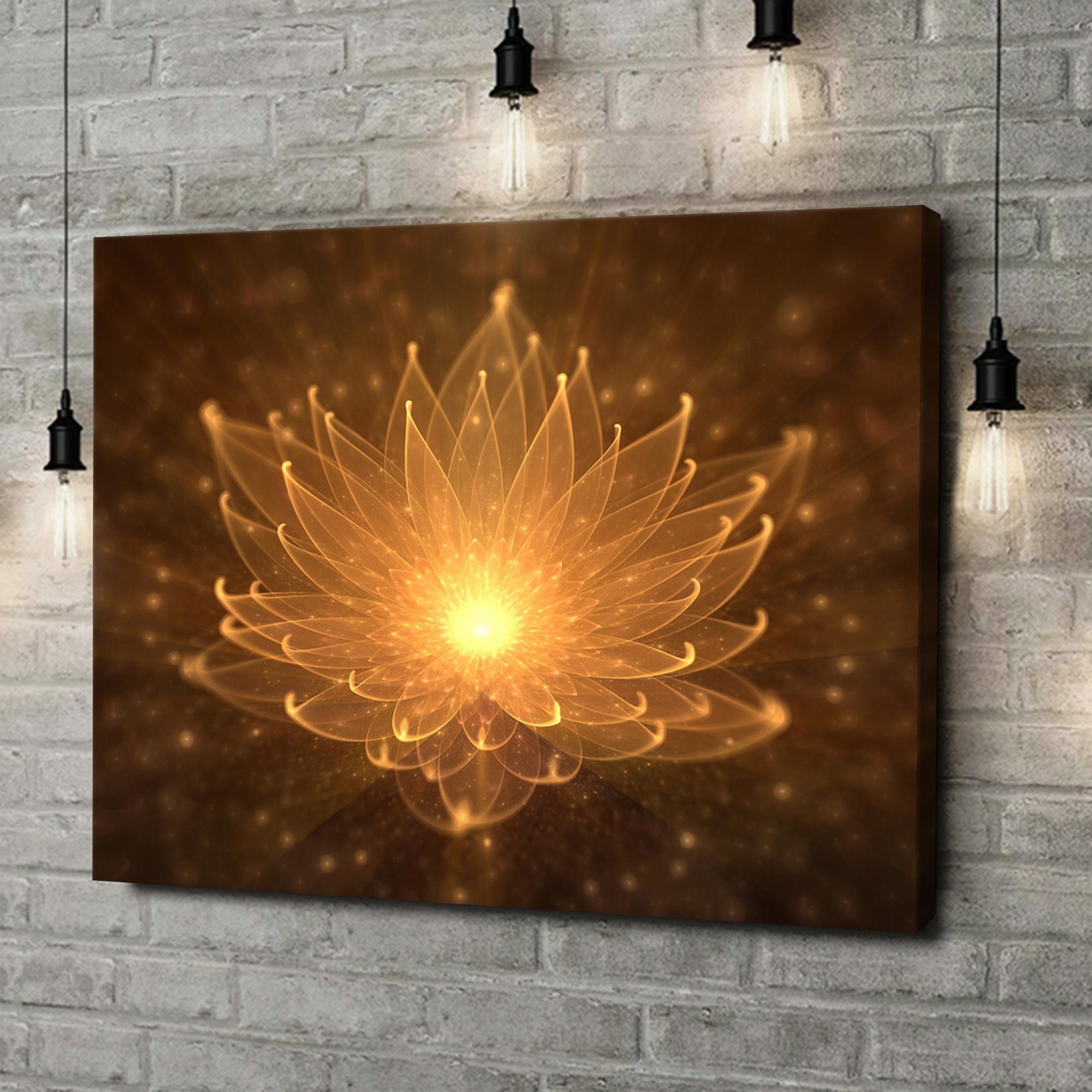 Leinwandbild personalisiert Lotusblüte