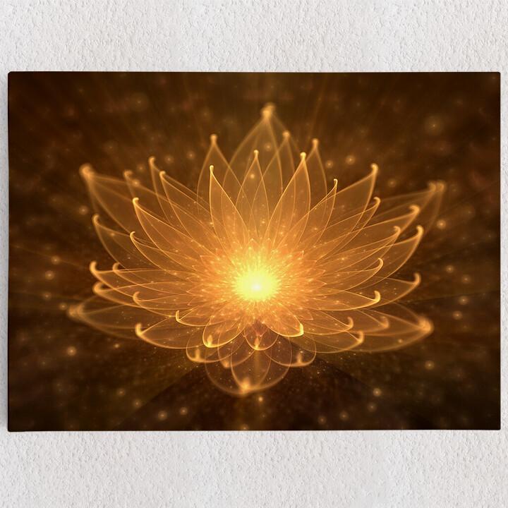 Personalisiertes Leinwandbild Lotusblüte