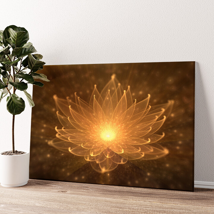 Lotusblüte Wandbild personalisiert