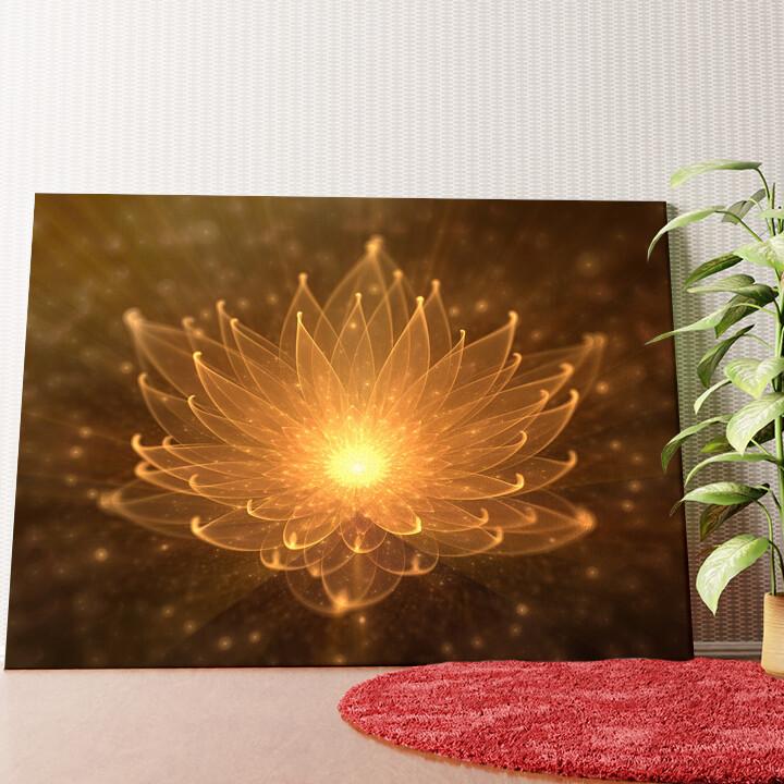 Personalisiertes Wandbild Lotusblüte