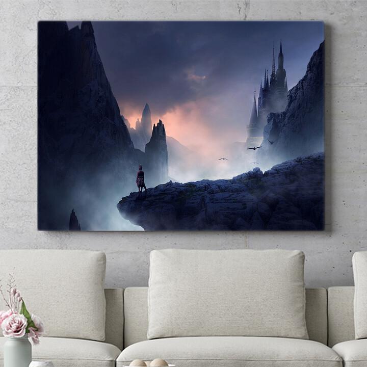 Personalisierbares Geschenk Fantasy Gebirge