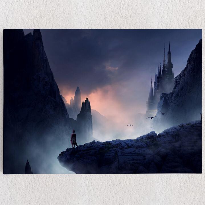 Personalisiertes Leinwandbild Fantasy Gebirge