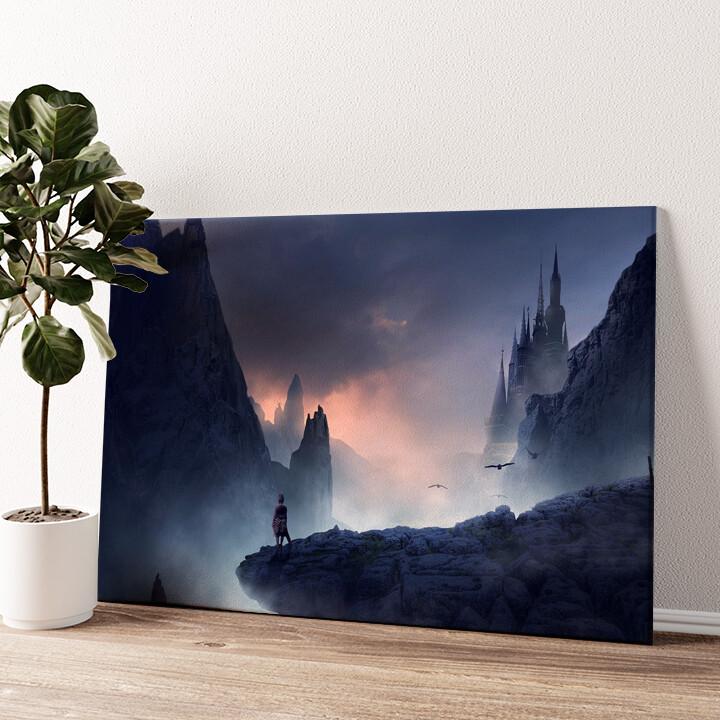 Fantasy Gebirge Wandbild personalisiert