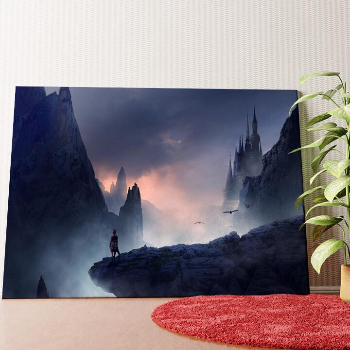 Personalisiertes Wandbild Fantasy Gebirge