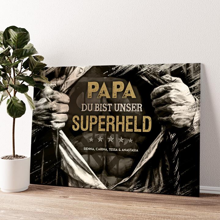Superheld Wandbild personalisiert