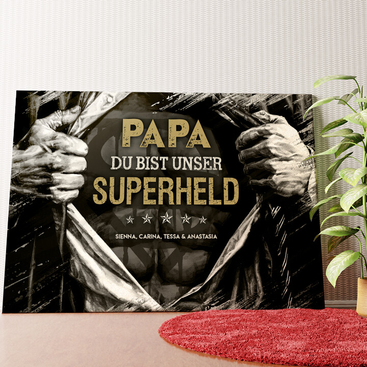 Personalisiertes Wandbild Superheld