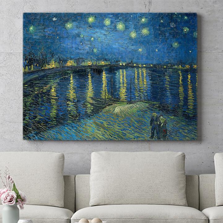 Personalisierbares Geschenk Sternennacht über der Rhone