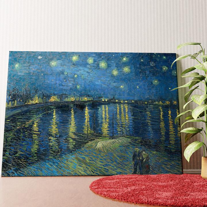 Personalisiertes Wandbild Sternennacht über der Rhone