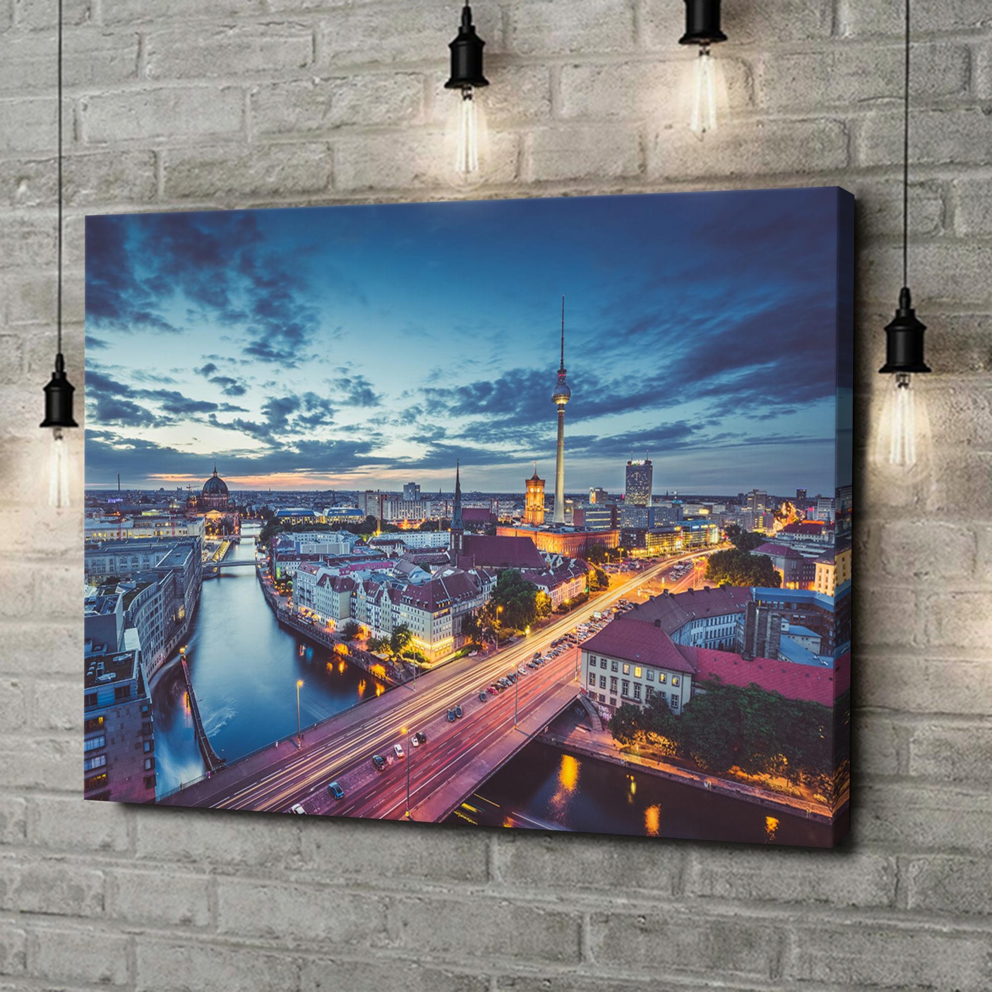 Leinwandbild personalisiert Skyline von Berlin